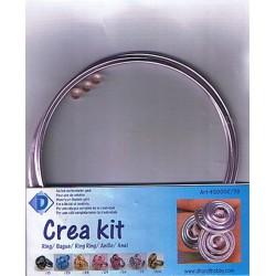 Crea Kit jewelry Alu ring Lilac