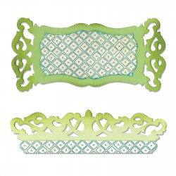 Sizzlits Label and Edge Scrollwork