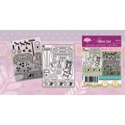 Pergamano Mini Set Grid & Stamp nr 10 Summer garden