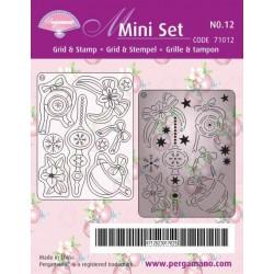 Pergamano Mini Set Grid & Stamp nr 12 Christmas balls