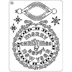 Pergamano Mini Grid nr 23 Happy New Year