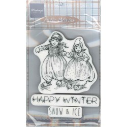 Marianne Design Cling Stamps Happy Winter
